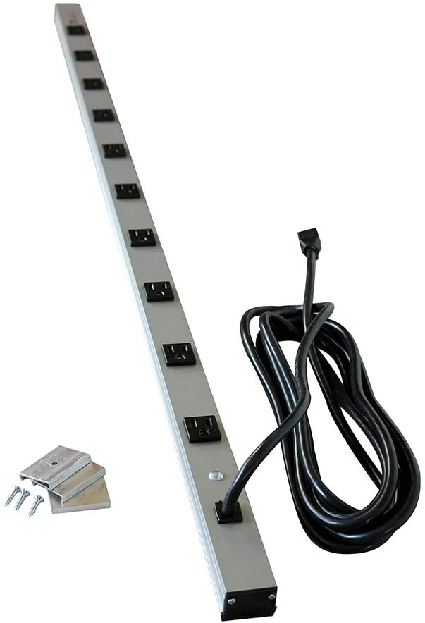 Legrand - Wiremold Power Strips, CabinetMate, Amp, 15 Feet, 4810ULBD, 15A