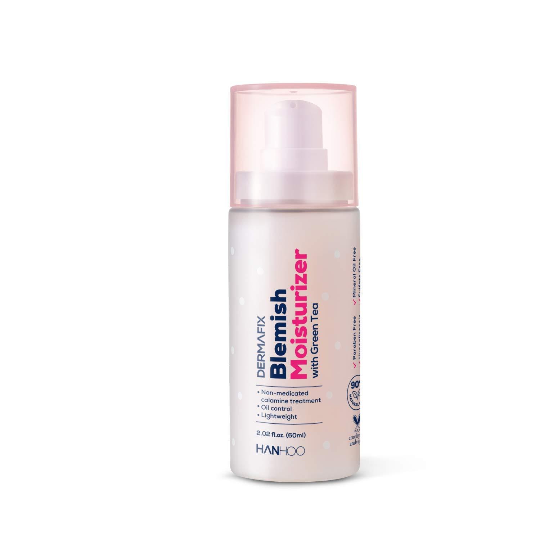 Hanhoo DermaFix Blemish Moisturizer with Calamine and Green Tea – Skin hydration and Oil Control – 2.02 fl. oz.