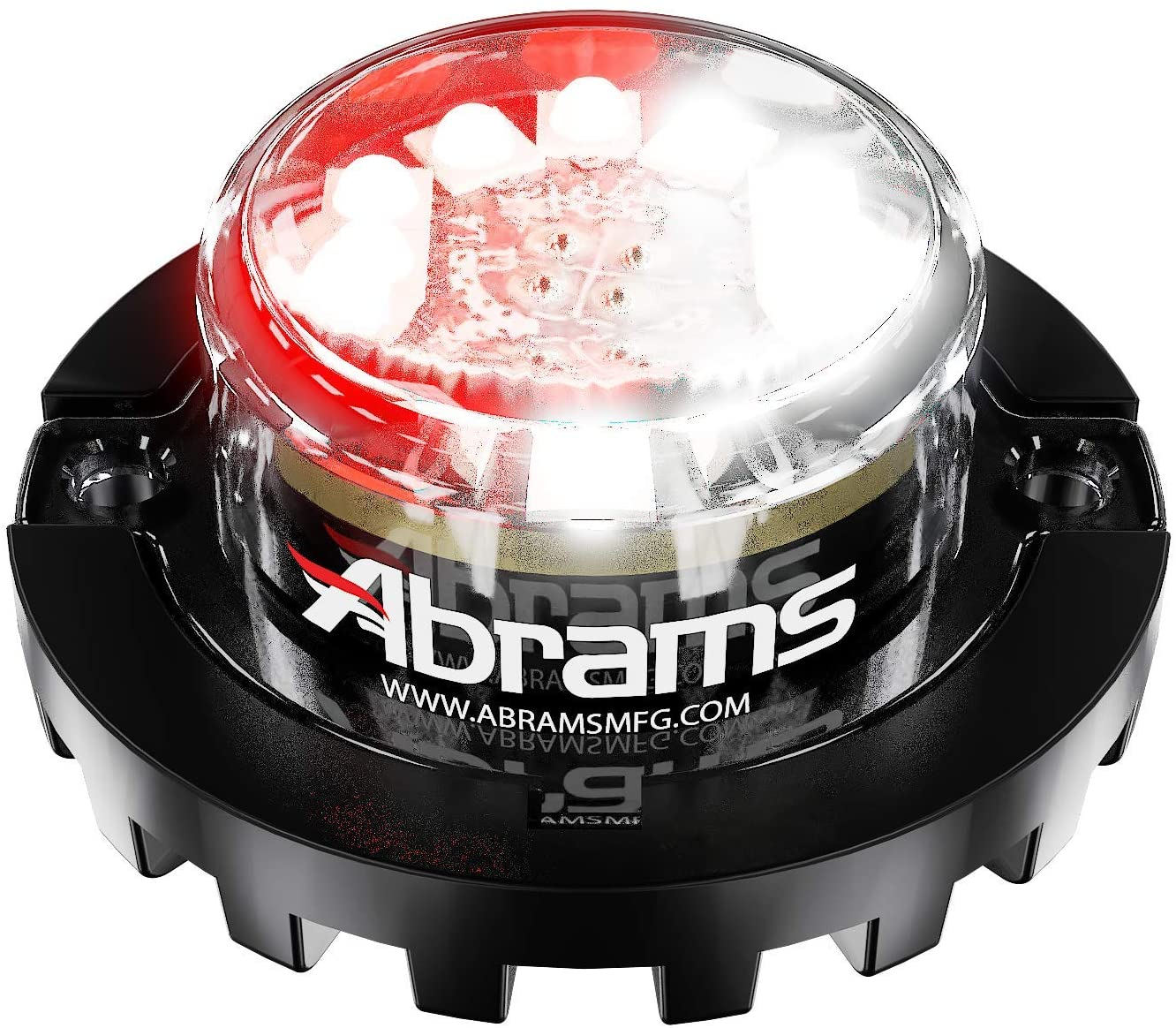 Abrams SAE Class-1 Blaster 120 (Red/White) 36W - 12 LED EMS EMT Fire Truck Vehicle LED Hideaway Surface Mount Strobe Warning Light