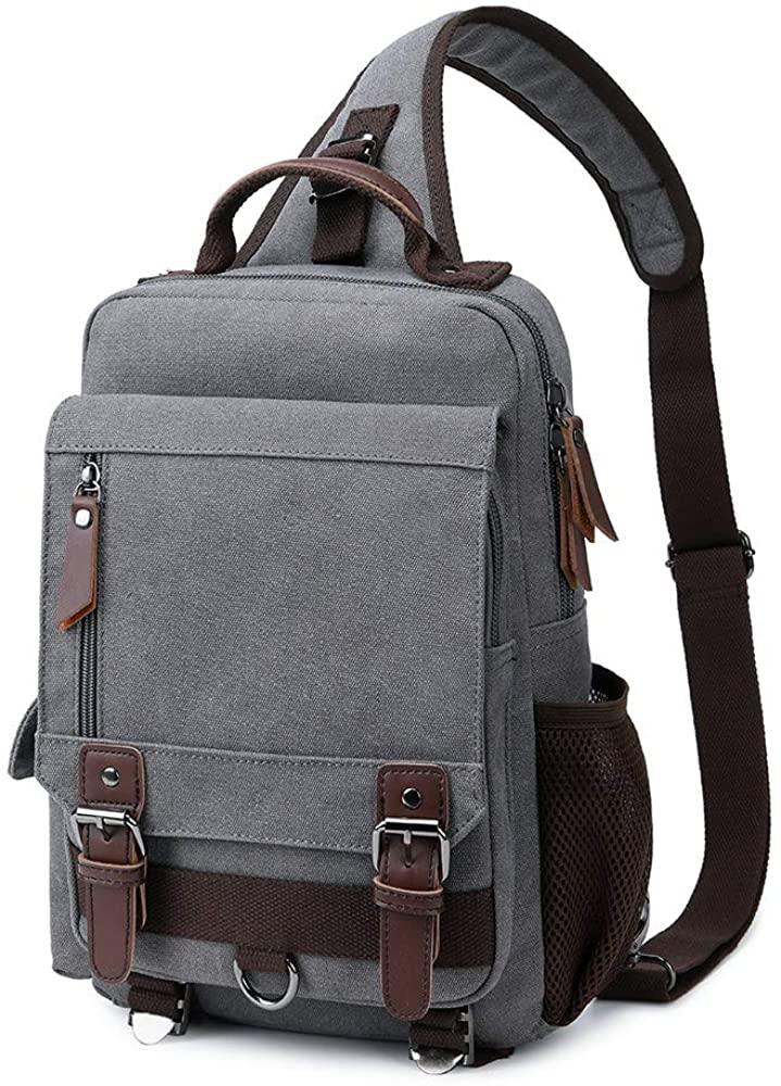 Imyth Vintage canvas messenger bag travel Shoulder pack commute crossbody bag sling bag casual day pack
