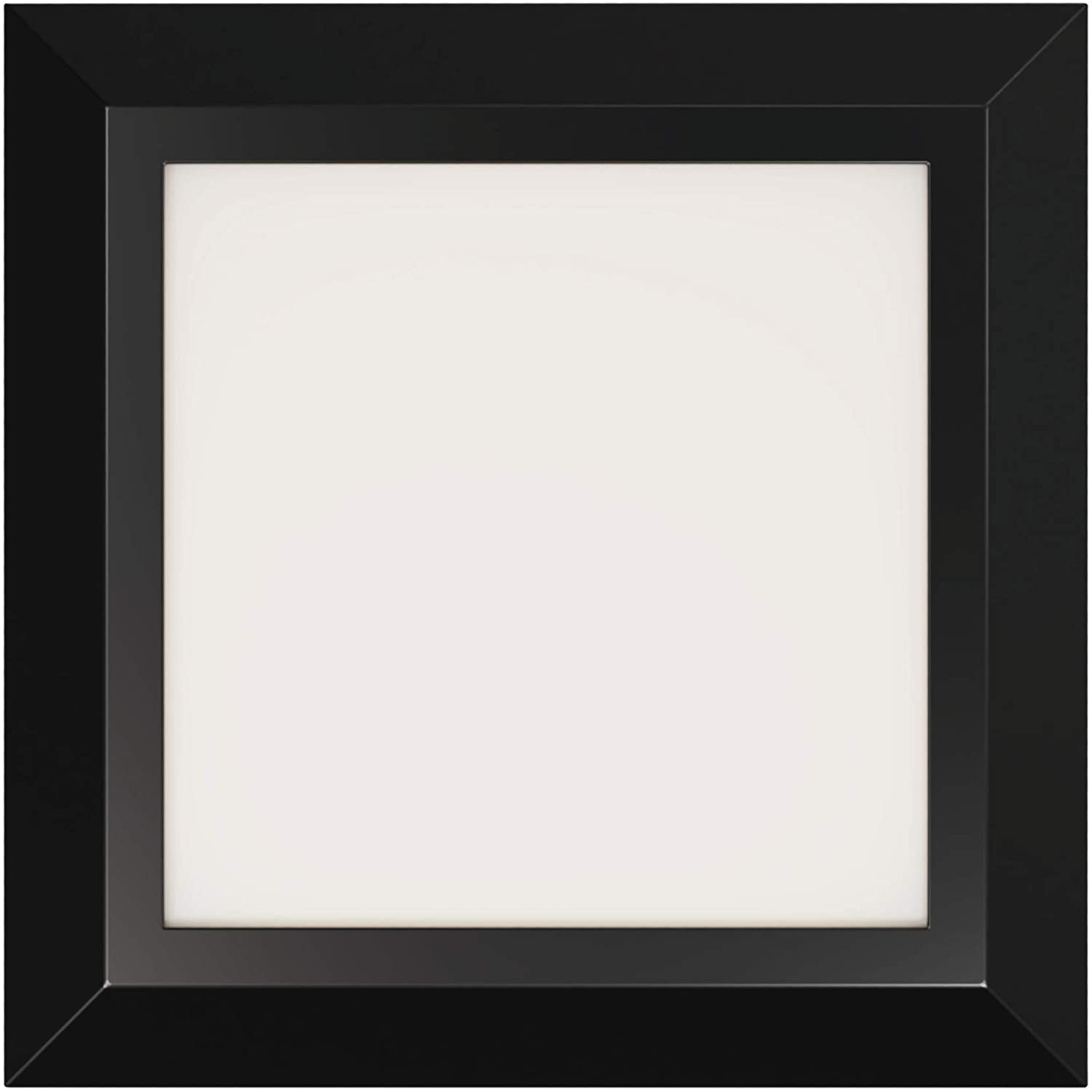 NextGlow Surface Mount 7-inch LED Ceiling Light - Square 16W/ Ultra-Thin 1100lm Dimmable, Lighting for Home, Luxurious Flush Mount ETL, Energy Star, Easy Installation on J-Box (Black Finish / 4000K)
