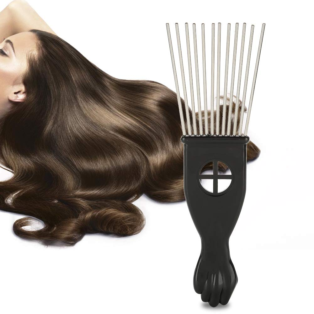 Yunnyp Insert Comb Oil Head Comb,Hair Hairdressing Tool Fork Comb Hair Dying Straightening Curling Men Oil Hair Styling Comb