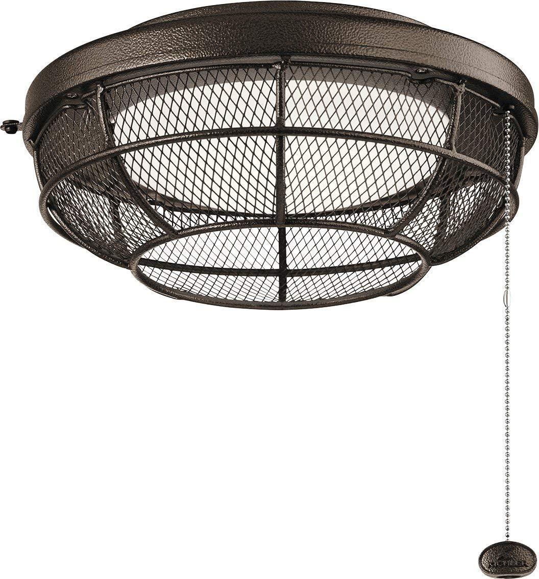 Kichler 380952TZP Industrial Mesh Outdoor 1-Light Kit, LED 17 Watts, Tannery Bronze Powder Coat
