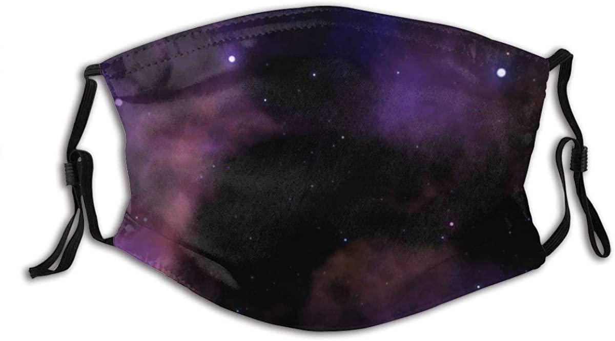 Nebula Starry Night Sky Pattern Comfortable Stylish Mouth Protection Face Mask Balaclavas Unisex Outdoor Dustproof