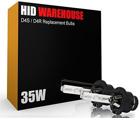 HID-Warehouse AC HID Xenon Replacement Bulbs - D4S / D4R / D4C - 4300K Daylight (1 Pair) (Metal Bracket)