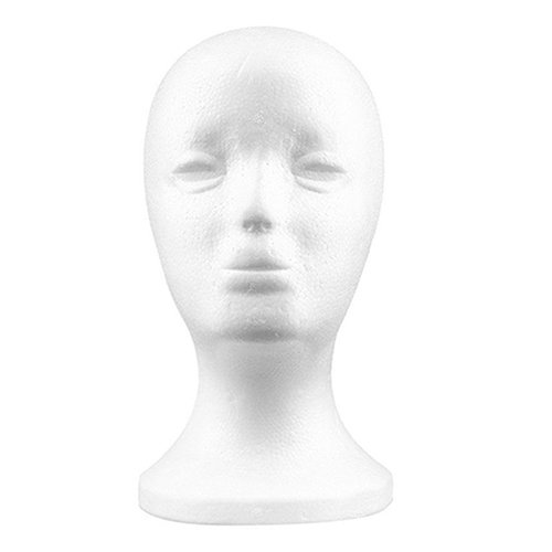 Hairdressing-Practical Foam Female Mannequin Head Wigs Glasses Cap Display Holder Stand Model