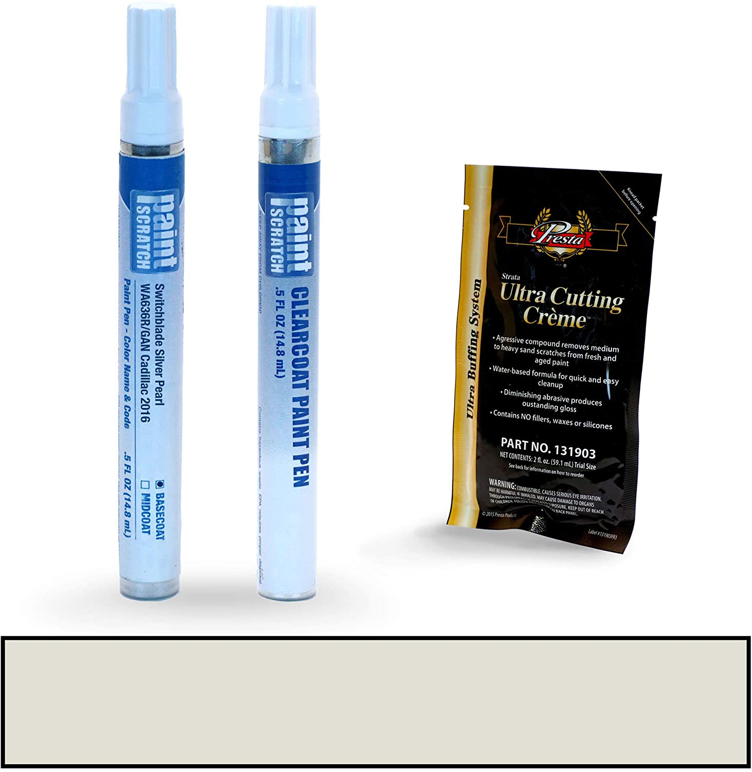 PAINTSCRATCH Touch Up Paint Pen Car Scratch Repair Kit - Compatible with Cadillac CTS Switchblade Silver Pearl (Color Code: WA636R/GAN)
