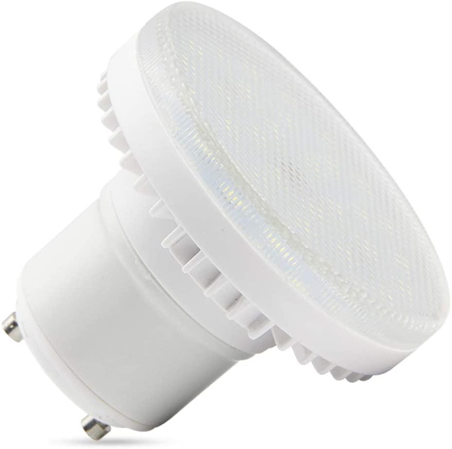 GU24 Base Spiral Light Bulb 7W,Lock Base Halogen Bulb (60-watt Replacement), 600 Lumen,GU24 Squat Light Bulb, White Light 6000K,AC110V-265V