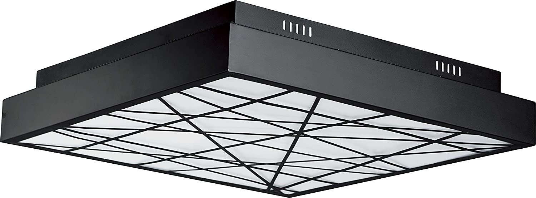 ET2 E20646-61BK Intersect Large Scale Square LED Flush Mount Ceiling Light, 1-Light 108 Watt, 5