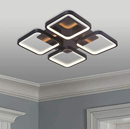 Leniure Black Square LED Light Ceiling Lamp Chandelier Lighting Fixture 18