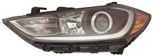 Go-Parts - for 2017 - 2018 Hyundai Elantra Headlight Headlamp Assembly Replacement Front - Right (Passenger) 92102-F3010 HY2503210 Replacement