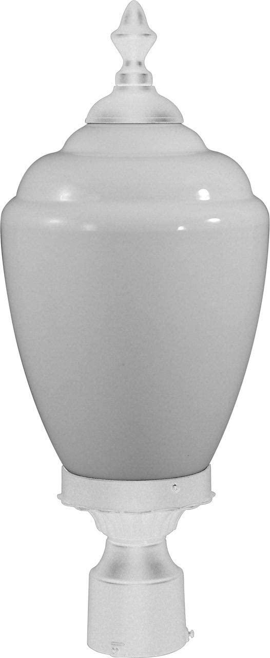 Dabmar Lighting GM285-W Alisa Post Top Fixture, Incand 120V, White Finish