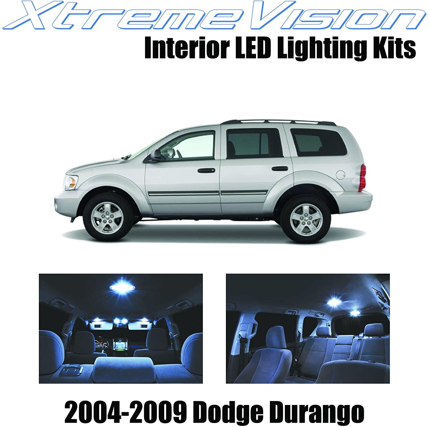 Xtremevision Interior LED for Dodge Durango 2004-2009 (7 Pieces) Cool White Interior LED Kit + Installation Tool
