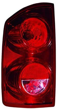 CarLights360: For 2007 2008 DODGE RAM 1500 Tail Light Assembly Driver Side w/Bulbs - (DOT Certified) Replacement for CH2800165