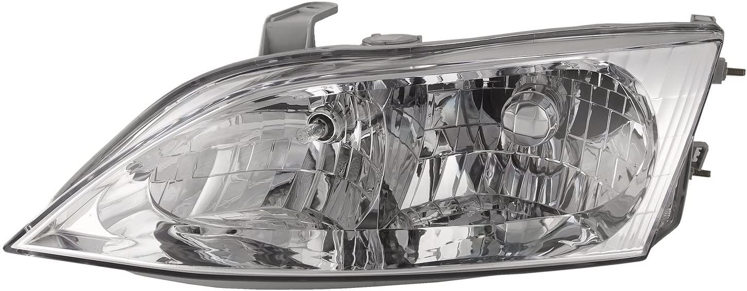 HEADLIGHTSDEPOT Chrome Housing Halogen Headlight Compatible With Lexus ES300 1997-2001 Includes Left Driver Side Headlamp