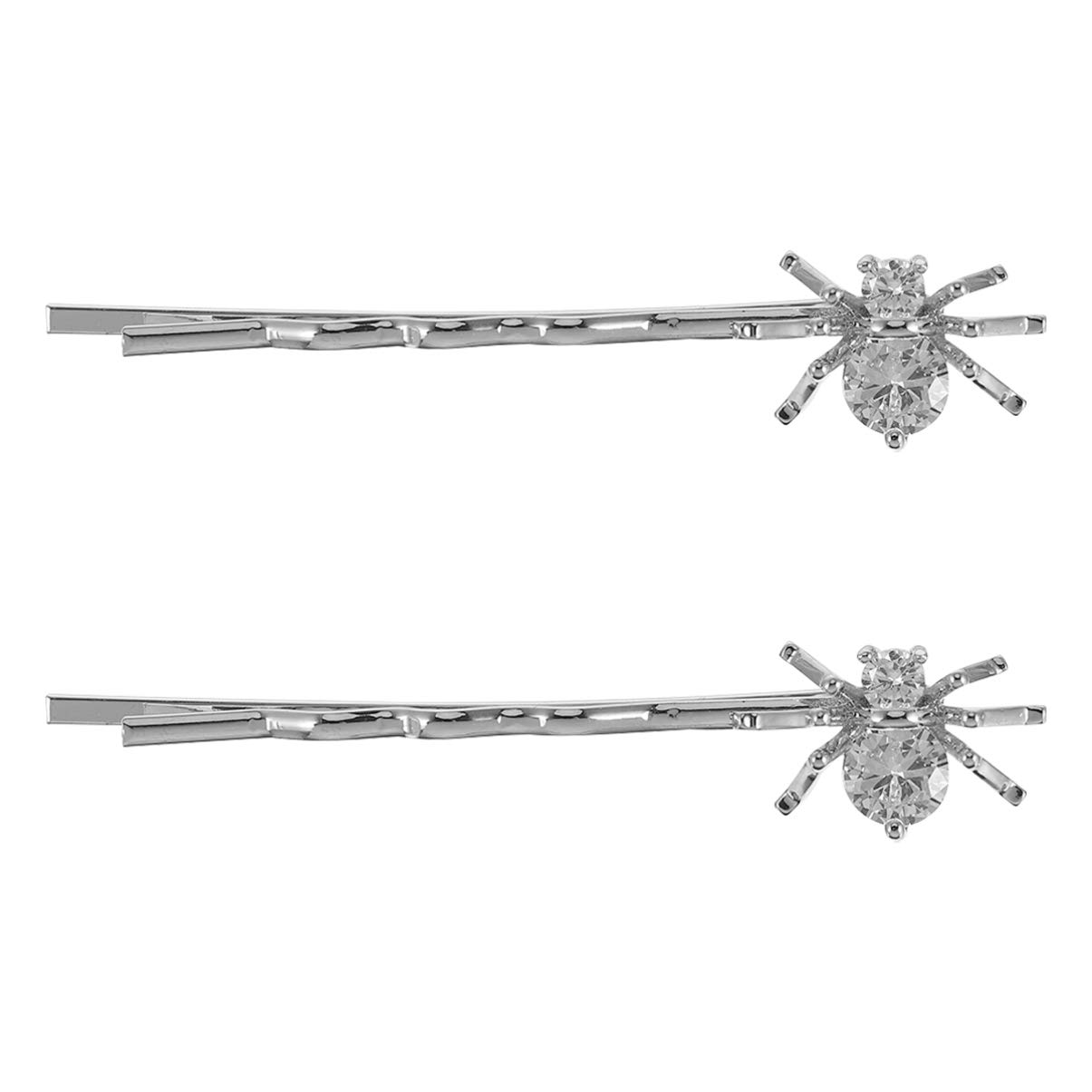 PIXNOR Halloween Hairpins Crystal Bobby Hairpins Spider Hair Clips Rhinestone Elegant Barrettes Fashion Hair Accessories for Daily Wearing and Cosplay Party Festival