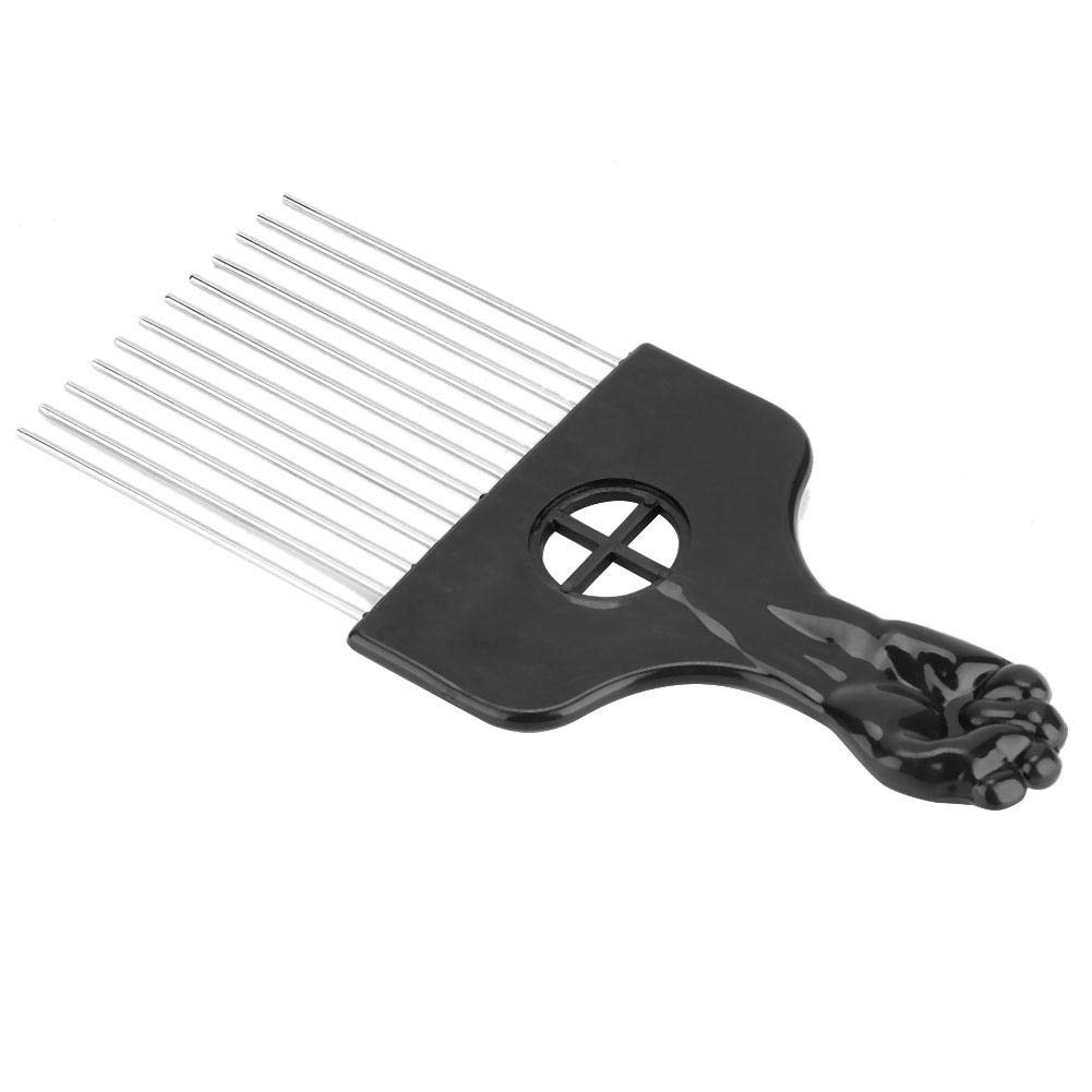 Afro Combs, Metal African Men Retro Oil Hair Hairdressing Comb for Hair Styling