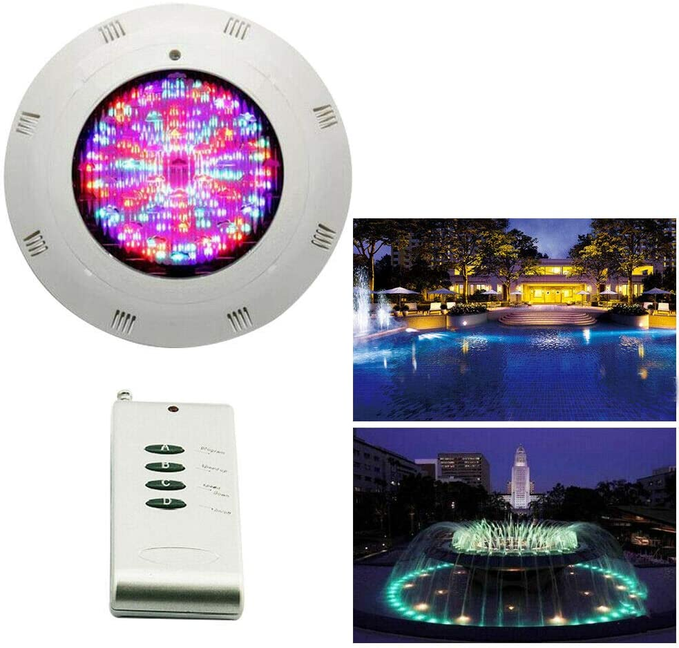 LOYALHEARTDY Meiney_US 18W LEDs Swimming Pool Color Changing LED Pool Light Bulb RGB Colorful Light Lamp Lights Multi Color 12V Underwater Remote Control 5m