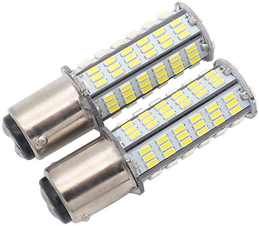 GRV Ba15d 1076 1142 1176 LED bulb 126-3014 SMD AC/DC 11-24V 4W High Bright White Pack of 2