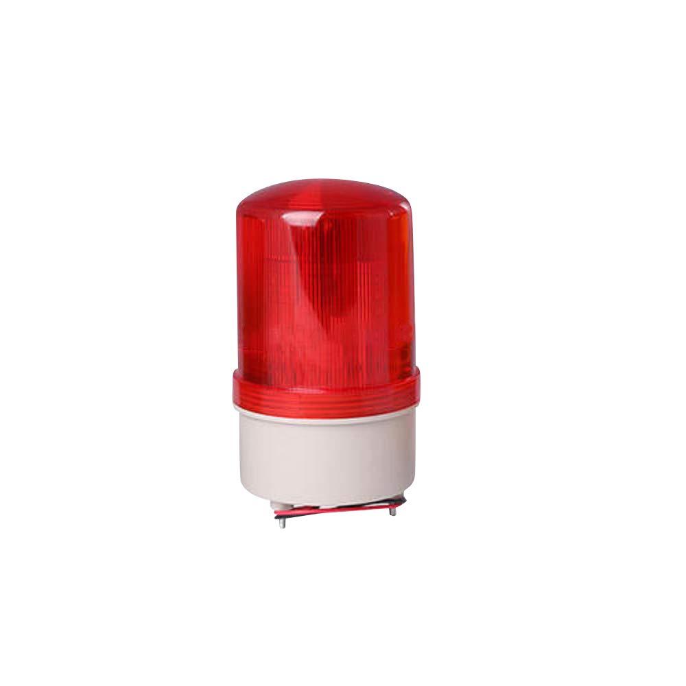 Othmro LED Warning Light Bulb Rotating Industrial Signal Tower Lamp Buzzer 12V 10W Red LTE1101J 1pcs