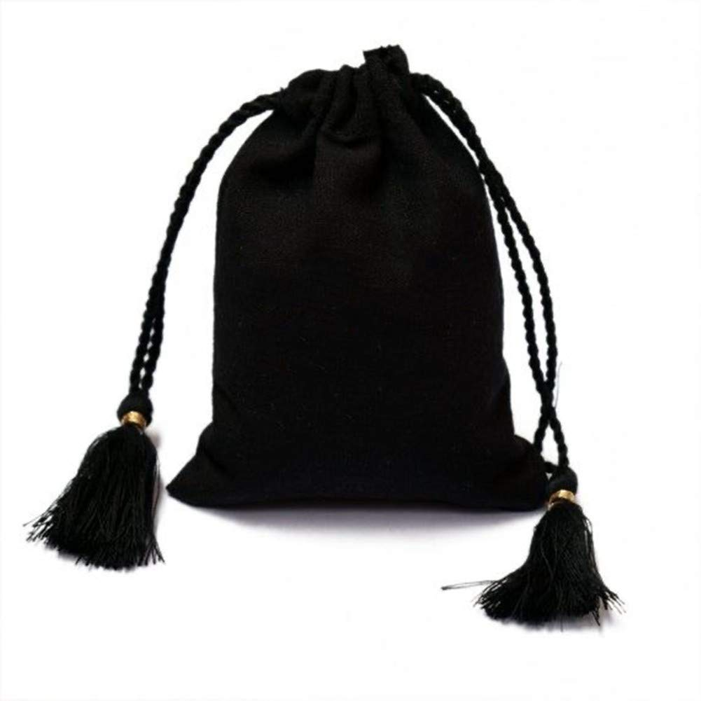 Storage Bags for Hair Extentions,Bundles,Wigs,Hair Tools (Black 2 pcs)