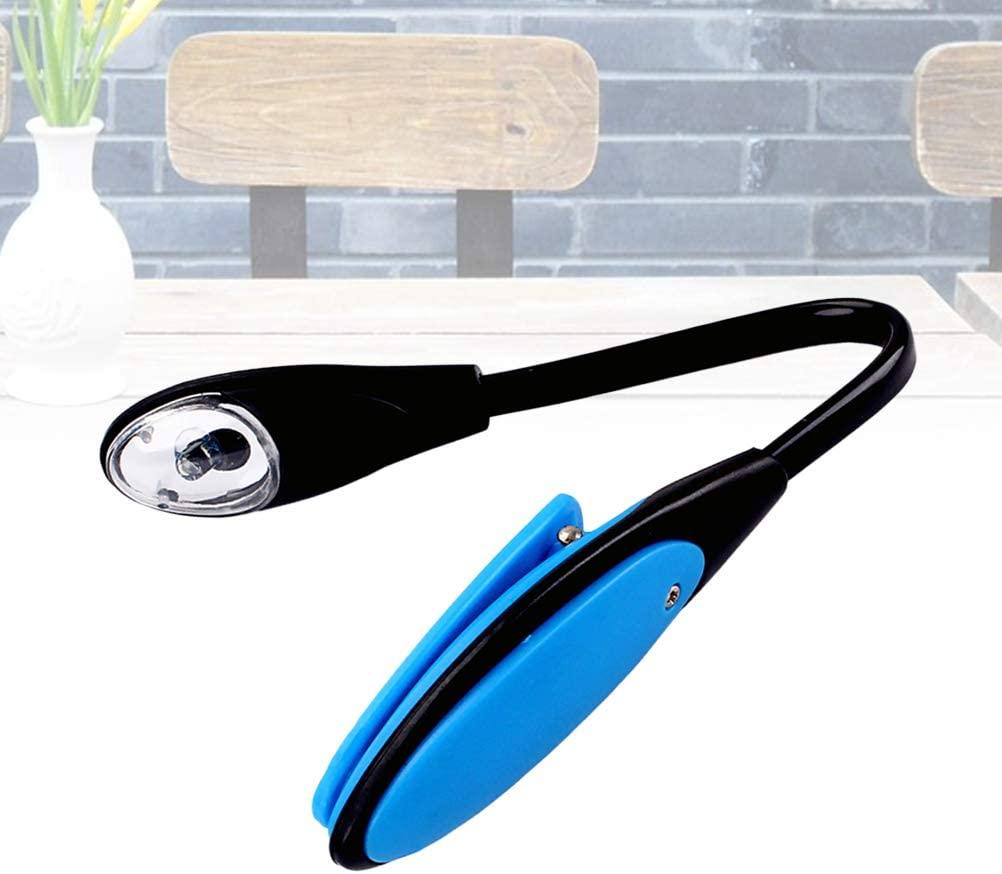 Uonlytech 1PC Durable Pratical Useful Safe Convenient LED Light LED Reading Light Flexible USB Light Clip Mini Lamp Reading Light