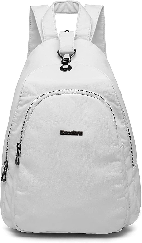 21K Barcelona Backpack Small Purse for Women Handbag Casual Soft Vegan PU Leather, 1639