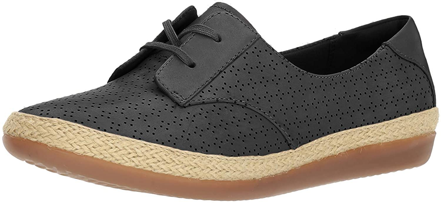 CLARKS New Women's Danelly Millie Espadrille Sneaker Black 6 M