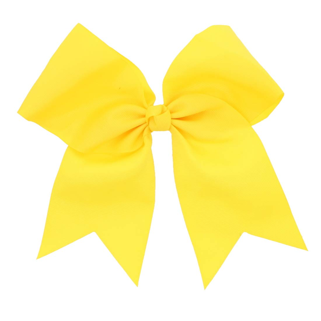 Yellow Jumbo Bow Clip with Tails