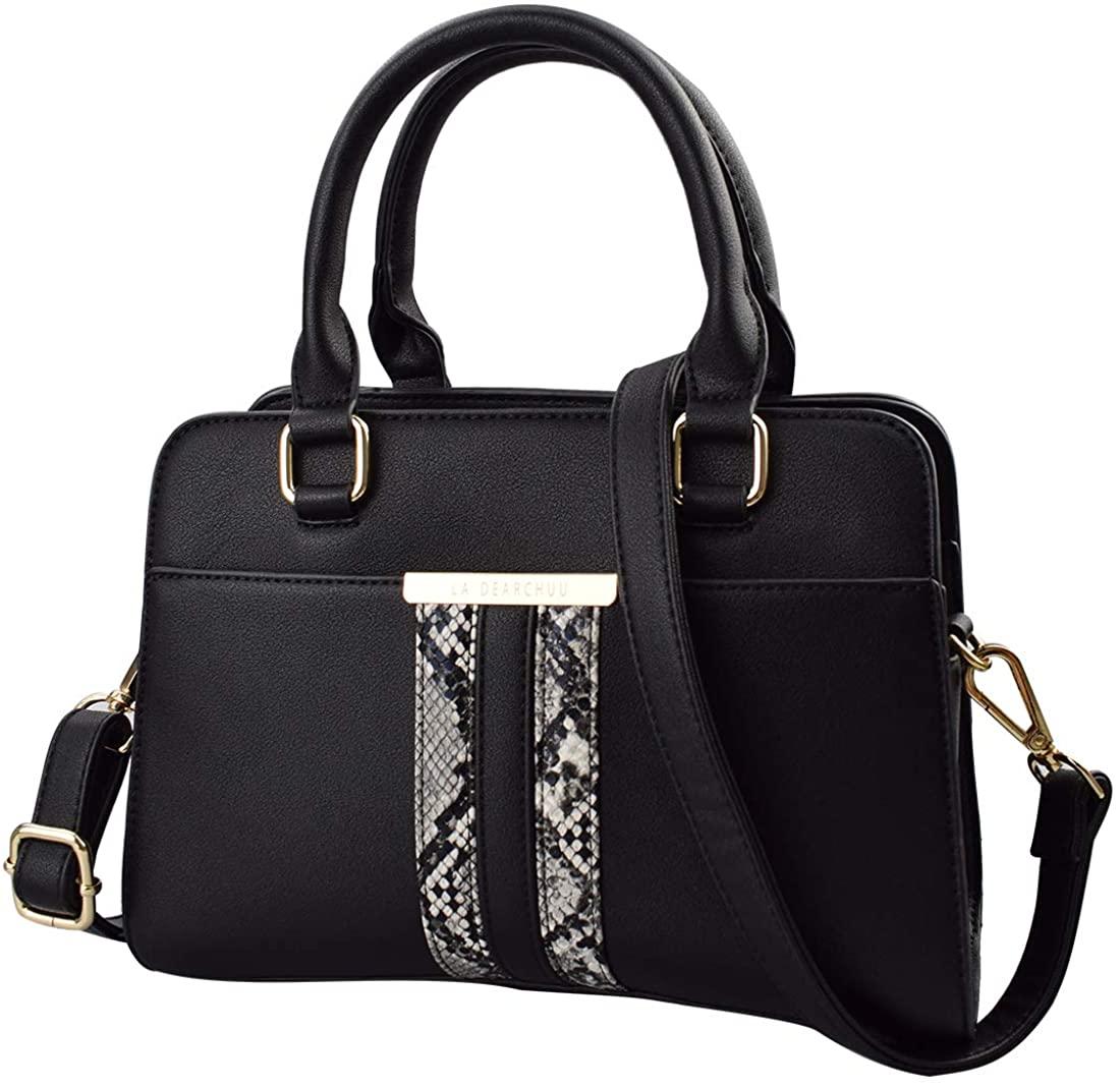 Snakeskin Print Purse Handbags for Women Designer Top Handle Satchel Handbags Small Leather Crossbody Bag