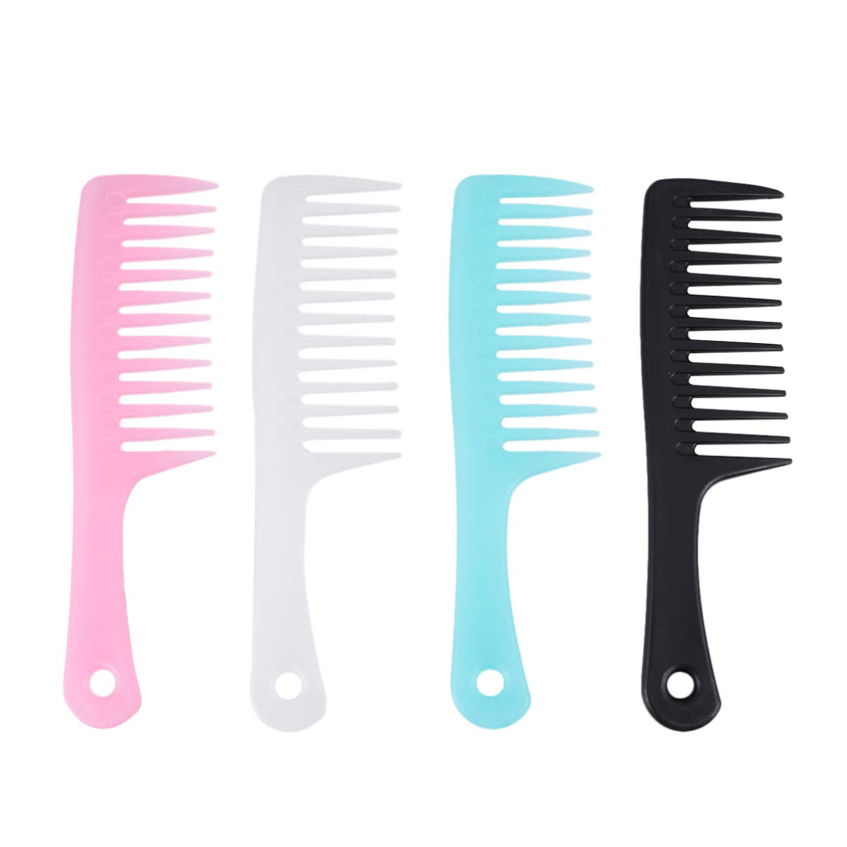 Minkissy Anti-static Large Tooth Detangle Comb, 4pcs Wide Tooth Hair Comb for Women, Salon Shampoo Comb for Thick Hair Long Hair and Curly Hair, Scalp Massage Combs (Picture 1)