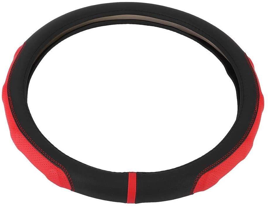 Akozon Steering Wheel Cover,Steering Wheel PVC Cover Color Blocking Automotive Accessories for Car Truck SUV