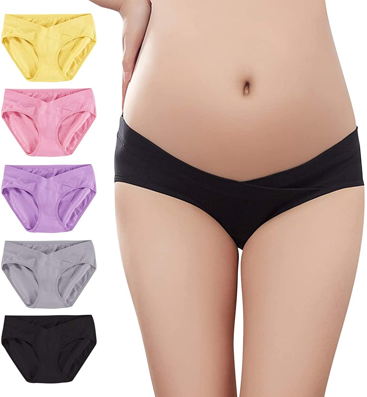 T1FE 1SFE Women Under The Bump Maternity-Panties Pregnancy-Postpartum Cotton Underwear