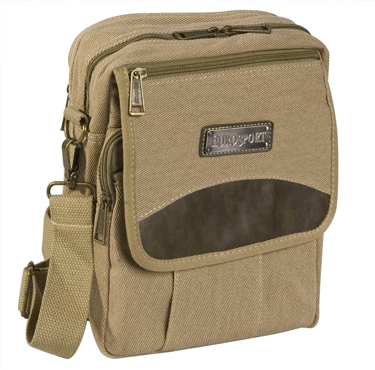 Eurosport Canvas Cross Body Bag, B400-Khaki.