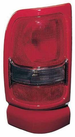 JP Auto Outer Tail Light Compatible With Dodge Ram 1994 1995 1996 1997 1998 1999 2000 2001 2002 Passenger Right Side Taillamp