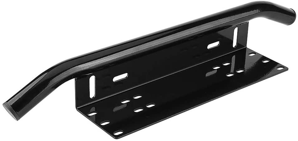 Universal License Plate Mounting Bracket Front Bull Bar Bumper for Off Road LED Work Light Bar