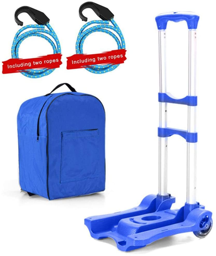 Lorchwise Folding Hand Truck,Portable Adjustable Folding Hand Truck,2-Wheel Construction Utility Cart Compact and Lightweight for Luggage,Personal,Travel,Auto,Moving and Office Use-Portable Fold Up
