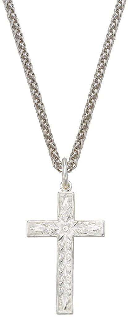 Montana Silversmiths Women's Engraved Cross Charm Necklace - Nc61627asst