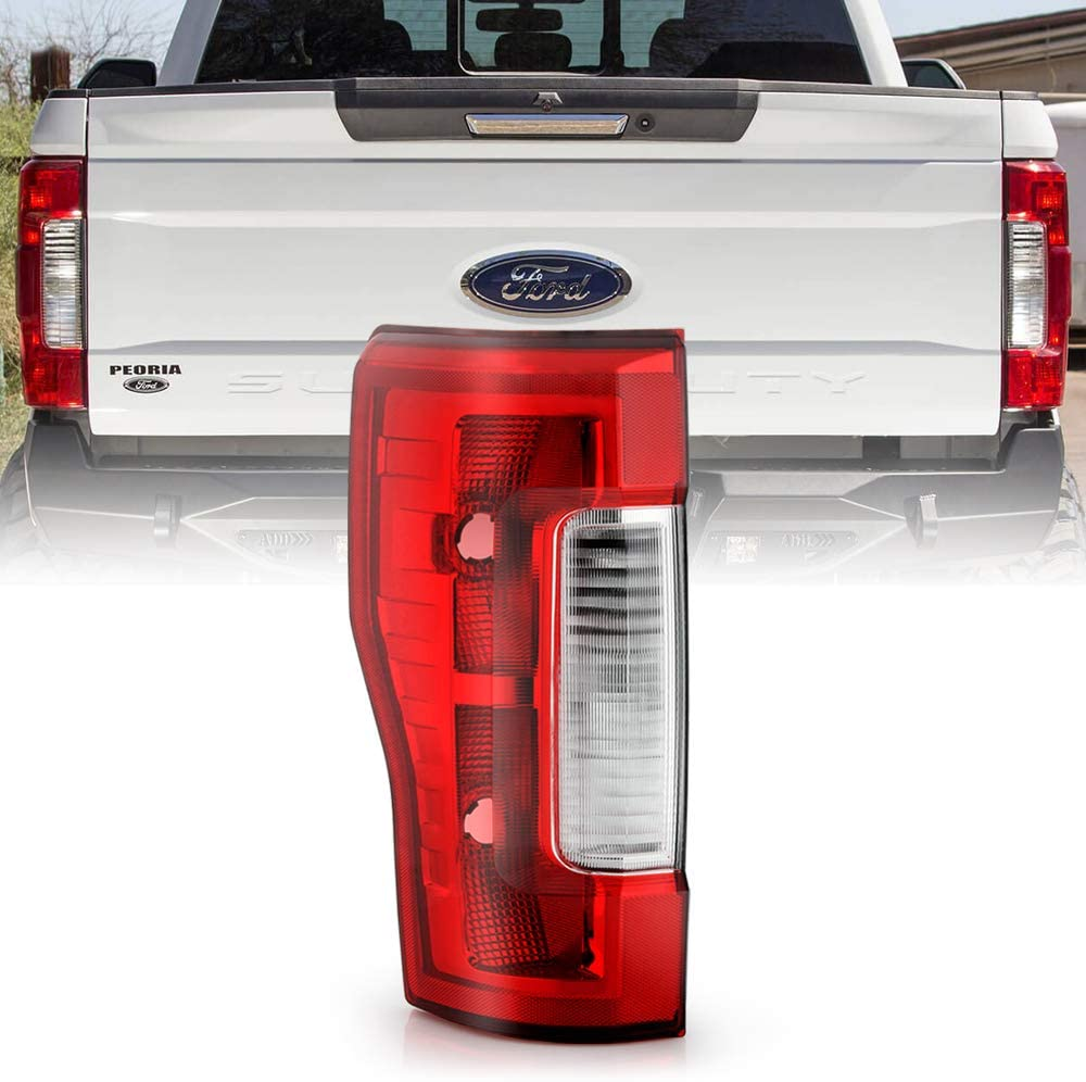 ACANII - For [Non-LED & Non-Blind Spot] 2017-2019 Ford F250 F350 SuperDuty OE Style Tail Light Bake Lamp LH Driver Side