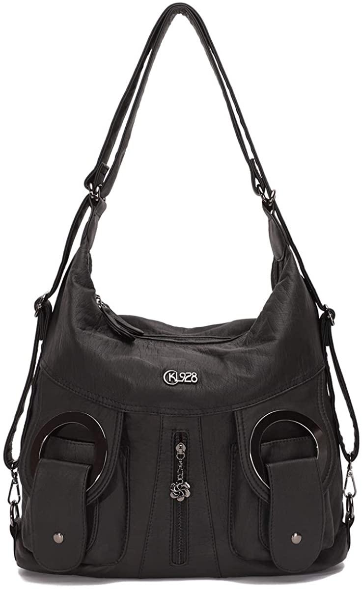 KL928 Large Purses and Handbags Soft Leather Nylon Hobo shouder bags for women