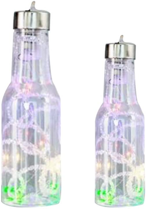 Garneck 2PCS Wine Bottle Lights LED Fairy Mini Lights for DIY Festival Wedding Holiday Party Indoor Outdoor Decoration (Wire)