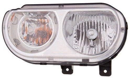 Go-Parts - for 2008 - 2014 Dodge Challenger Front Headlight Assembly Housing / Lens / Cover - Left (Driver) Side 5028777AA CH2518137 Replacement 2009 2010 2011 2012 2013