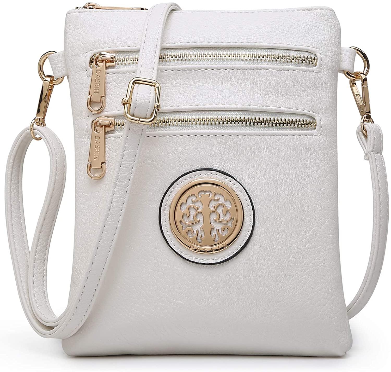 Dasein Medium Crossbody Bags for Women Handbag Lightweight Crossbody Purses with Multi Pockets
