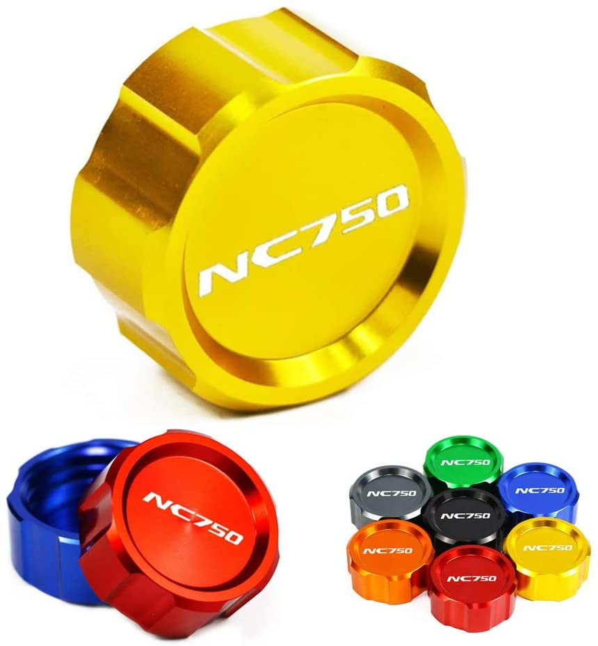 Worldmotop Brake Oil Cap Gas Cap Cover Motorcycle Brake Fluid Reservoir Cap for NC750 (yellow)