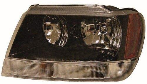 Go-Parts - for 1999 - 2004 Jeep Grand Cherokee Headlight Assembly (Grand Cherokee Laredo/Sport From 1/14/02) - Left (Driver) 5103401AA CH2502138 Replacement 2000 2001 2002 2003