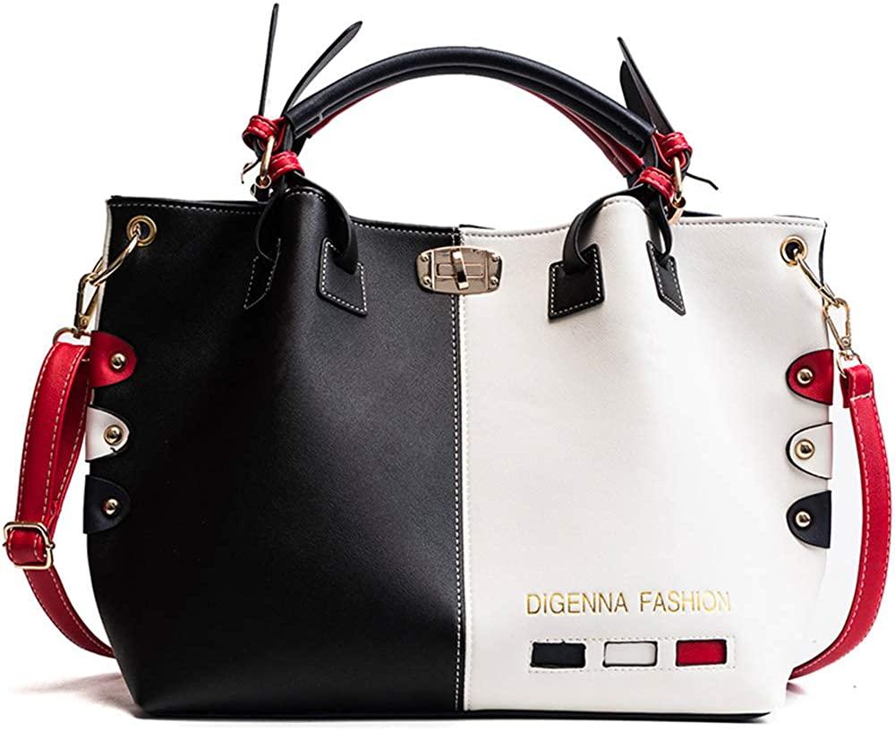 Women's Fashion bag Contrast Color Tote Bag Handbag large capacity Satchel Travel Shoulder Bag Large Messenger bag