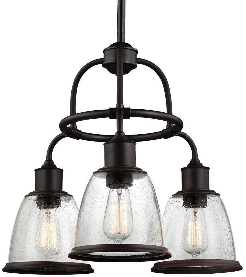 Feiss F3020/3ORB Hobson Glass Chandelier Lighting, Bronze, 3-Light (22