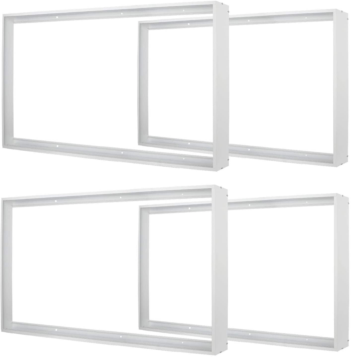 4x2FT Surface Mount Kit, Aluminium Surface Mounting Bracket Kit, 4' by 2' Surface Mount Frame LED Light, for 48
