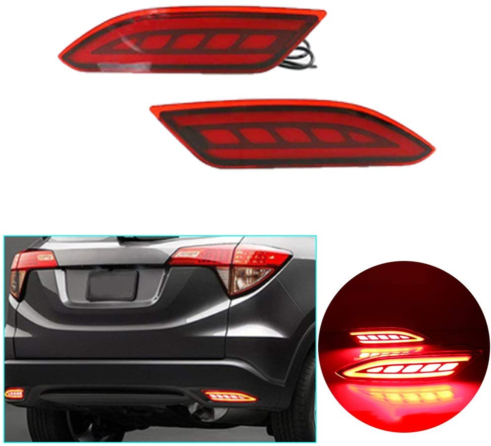 Maite Car Bumper Reflector Lights for Honda HR-V 2019-2020 Rear Bumper Lamps Replacement Tail Brake Light Turn Signal Lamp Safe and Durable