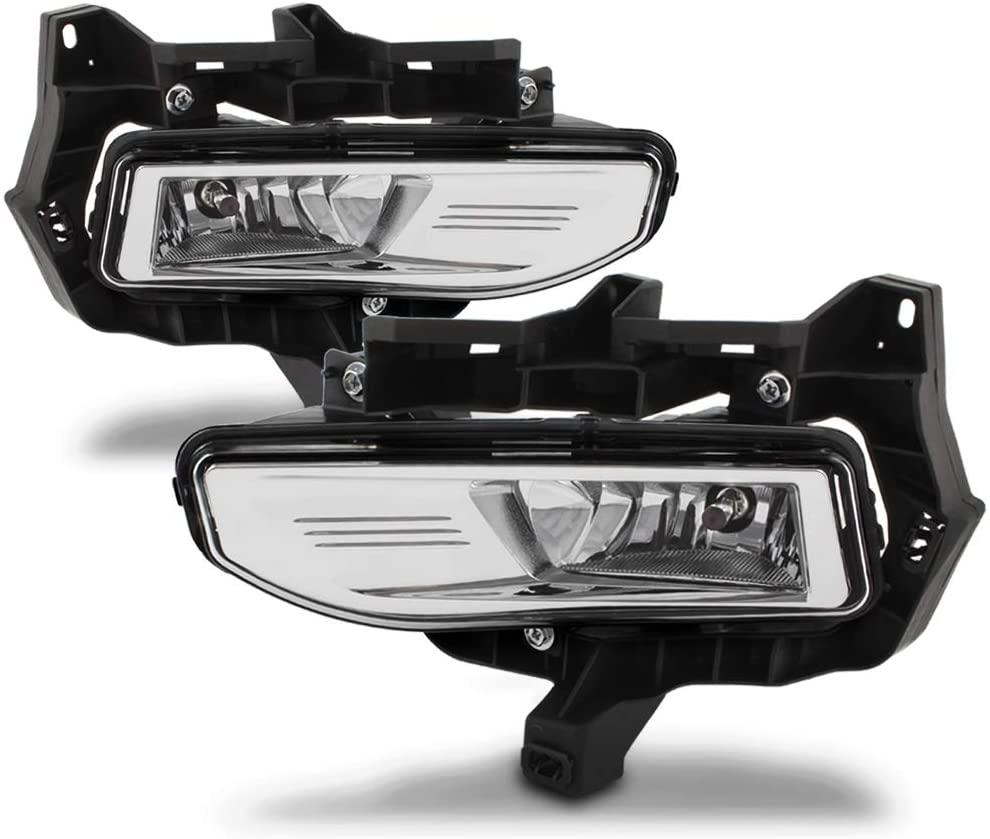 ACANII - For 2017-2018 Nissan Versa Note Bumper Fog Lights Driving Lamps Bulb+Bracket Assembly Driver & Passenger Side